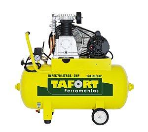 Compressor De Ar 10 Pés 70 litros - 2Hp - TAFORT