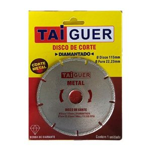 Disco De Corte Diamantado Metal (115mm x 22,23mm) - TAIGUER