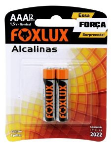 Pilha Alcalina Palito AAA  Blister C/2  - FOXLUX