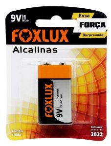 Bateria Alcalina 9V Blister C/1  - FOXLUX