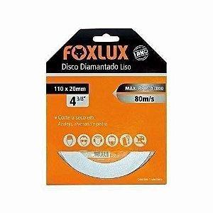 "Disco Diamantado Liso 4 3/8"" (110 X 20mm) - FOXLUX"