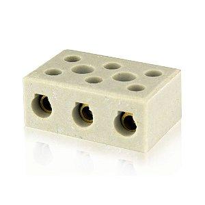 Conector De Porcelana Tripolar 10mm Cx50 - FOXLUX