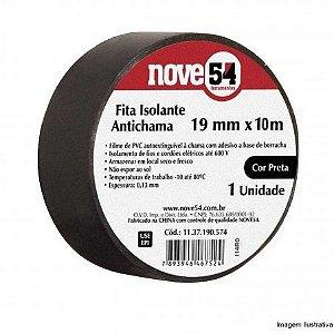 Fita Isolante 19mmx10M Preta - 954