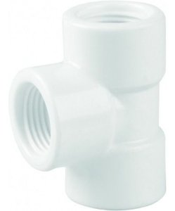 Tê Roscável 1/2 Branco Pct/20 - PLASTUBOS