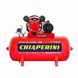 Compressor de ar média pressão 10 pcm 150 litros - Chiaperini 10/150 RED C/MM- CHIAPERINI