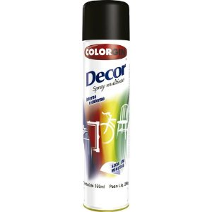 Tinta Spray Decor Preto Brilhante - SHERWIN-WILLIAMS