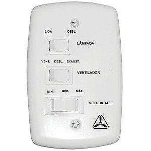 Chave Controle de Ventilador Branca (Cap.7+3) - VENTI-DELTA