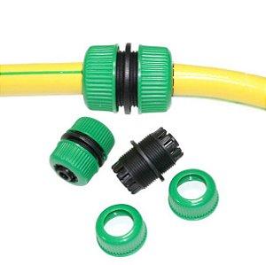 Conector Para Mangueira de Jardim 1/2 - 3/4 Verde - FROGUE