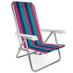 Cadeira de Praia Reclinável 4 Posições - MOR