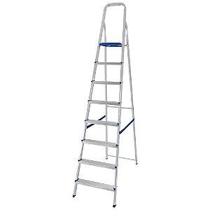 Escada de Alumínio 8 Degraus Uso Doméstico - MOR