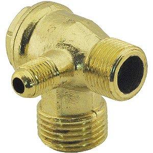 """Válvula Retenção 1/2""""Bspx3/8""""BspxMa10x1.0  Compressores Odontológicos - CHIAPERINI"""