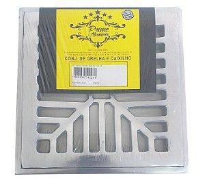 Grelha Concava Aluminio Polido  20X20 - PRIME ALUMINIO