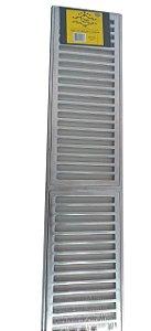 Grelha Reta Alumínio Polida C/ Caxilho  20x100 - PRIME ALUMINIO