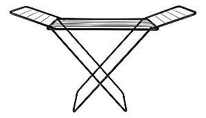 Varal Chão C/Abas Slim Preto ( Suporta 15kg e 8,54 Metros de Roupa ) - MOR