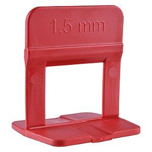 Espaçador Nivelador Eco 1,5 mm Vermelho Pact C/ 50 UN  - CORTAG