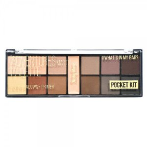 Paleta De Sombra Pocket Adventures Ruby Rose Primer 12 cores