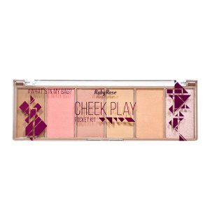 Ruby Rose Paleta Iluminador Pocket Cheek Play Blush Contorno