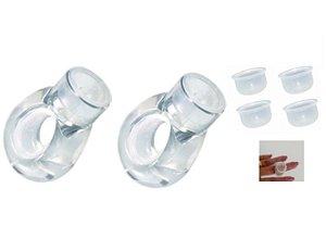 2 x  Anel Acrilico Porta Batoque Henna Sobrancelha Designer
