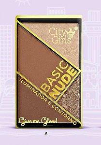 BASIC NUDE ILUMINADOR E CONTORNO - COR A / CITY GIRLS