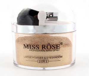 MISS ROSE Professional Make-Up Kit Loose Powder & Eyeshadow - Iluminador