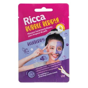 MÁSCARA FACIAL BUBBLE BERRY 10G- RICCA