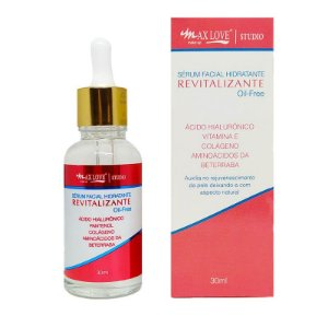 SÉRUM FACIAL HIDRATANTE REVITALIZANTE OIL FREE 30ML / MAX LOVE