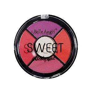 PALETA DE SOMBRAS SWEET COLORFUL 5 CORES /BELLE ANGEL-  COR B