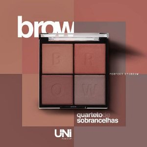 QUARTETO DE SOBRANCELHA PERFECT EYEBROW / UNI MAKEUP