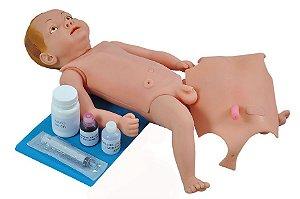 Manequim Bissexual Bebê com Órgãos Internos para Treino de Enfermagem