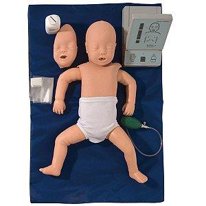 Simulador Bebê para Treino de RCP sem Órgãos para Treino de RCP com Dispositivo de Controle
