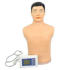 Simulador avançado de Hab. Médicas - Ausculta Cardiopulmonar com controle remoto