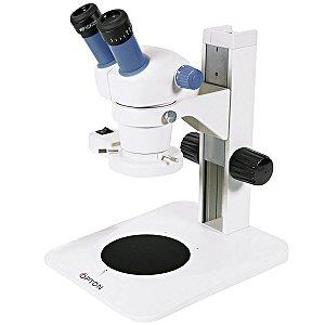 Microscópio Estereoscópico Binocular, Zoom de 0,7X até 3X , Aumento 7 X ~ 30X e Iluminação Refletida 8W Fluorescente