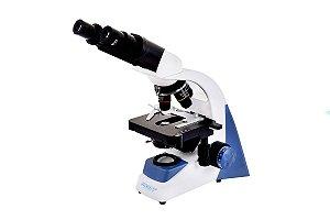 MICROSCÓPIO BIOLÓGICO BINOCULAR C/ AUMENTO DE 40X A 1600X E ILUMINAÇÃO LED 3W