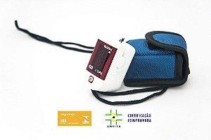 Oximetro De Pulso Dedo Premium Dellamed Portatil + Bolsa + CORDÃO + Pilha