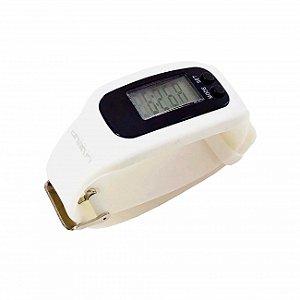 Relógio Pedômetro - Branco