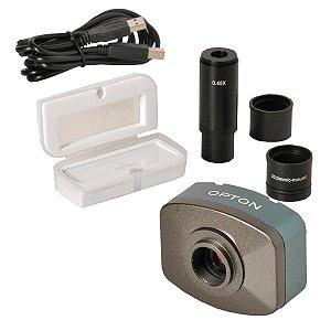 Câmera Digital  CMOS 5.0 Mega Pixel com lente de redução 0.5X , lâmina padrão 1mm/100 dv. Drvier/adp. CD, software de medicao e tratamento de imagens.