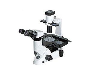 Microscópio Biológico Binocular Invertido com Ótica Infinita e Contraste de Fases Lentes Planacromáticas