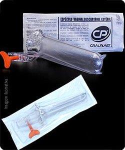 Especulo Vaginal Descartavel Esteril Individual Lubrificado (Grau cirurgico) Cx 200 un