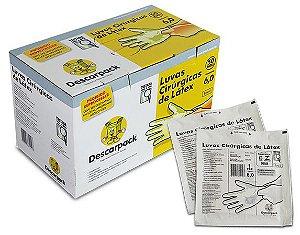 Luva Cirurgica Descartavel Caixa com 50 unidades Descarpack
