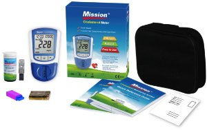 Monitor de Colesterol Perfil Lipídico Completo Mission + 50 Tiras Teste