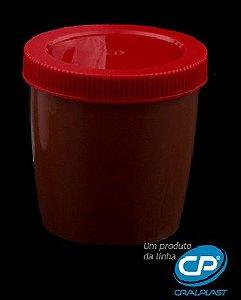 Coletor de urina 80ml âmbar tampa vermelha Caixa com 500 unidades (5 X 100 und.)