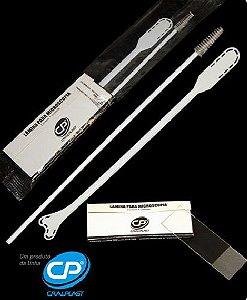 Kit citologia II (01 escova cervical + 01 espátula de Ayre + 01 porta-lâmina com 01 lâmina de vidro) Caixa com 100 unidades