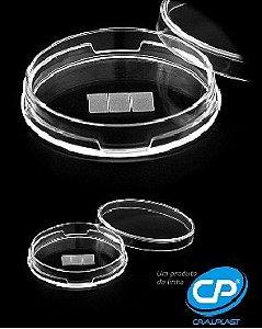 Placa petri 49x13mm lisa estéril  Caixa com 500 unidades