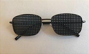 Óculos Terapêutico de Metal Preto