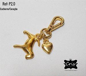 Chaveiro Dourado LOVE PET ♥ P2 ♥