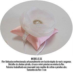 Corsage para Noivas e Madrinhas ♥ PULSEIRA MACRAMÊ ♥