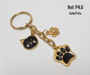 Chaveiro Dourado LOVE PET ♥ P4 ♥