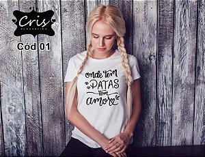 Camisetas Coleção Amor 4 PATAS