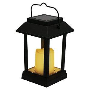 Luminária Solar Vela LED Decorativa Lanterna Colonial com Acendimento Automático