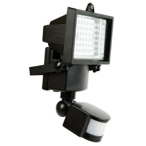 Refletor Solar 60 LEDs Branco Frio 6000k com Sensor de Presença